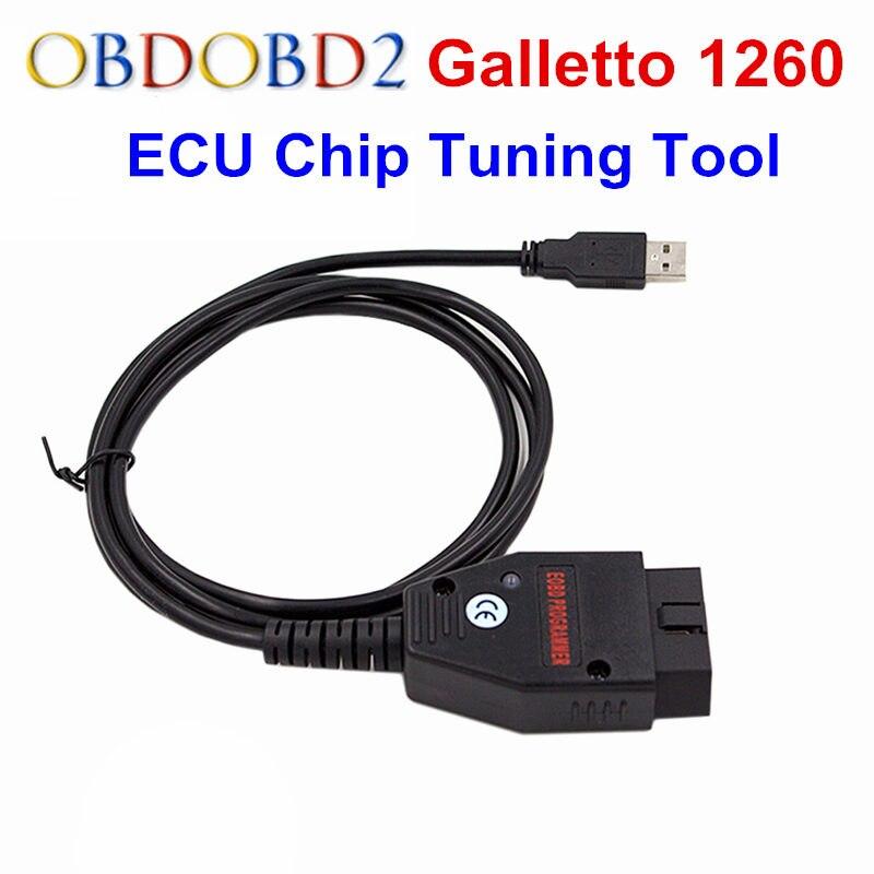 Galletto 1260 ECU Chip Tuning Interface OBDII Galletto ECU Flasher EOBD/OBD2 1260 Programmeur Par Lire et Écrire De Voiture ECU de