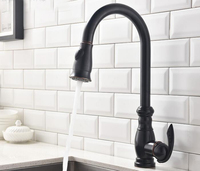 Free Shipping Premium ORB Brass Sink Mixer Faucet Oil Rubbed Bronze Copper Black Color Kitchen Tap