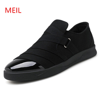 Fashion Spring Summer Men Canvas Shoes Breathable Casual Mens Shoes Loafers Comfortable Ultralight Lazy Slip On Shoes Men Flats