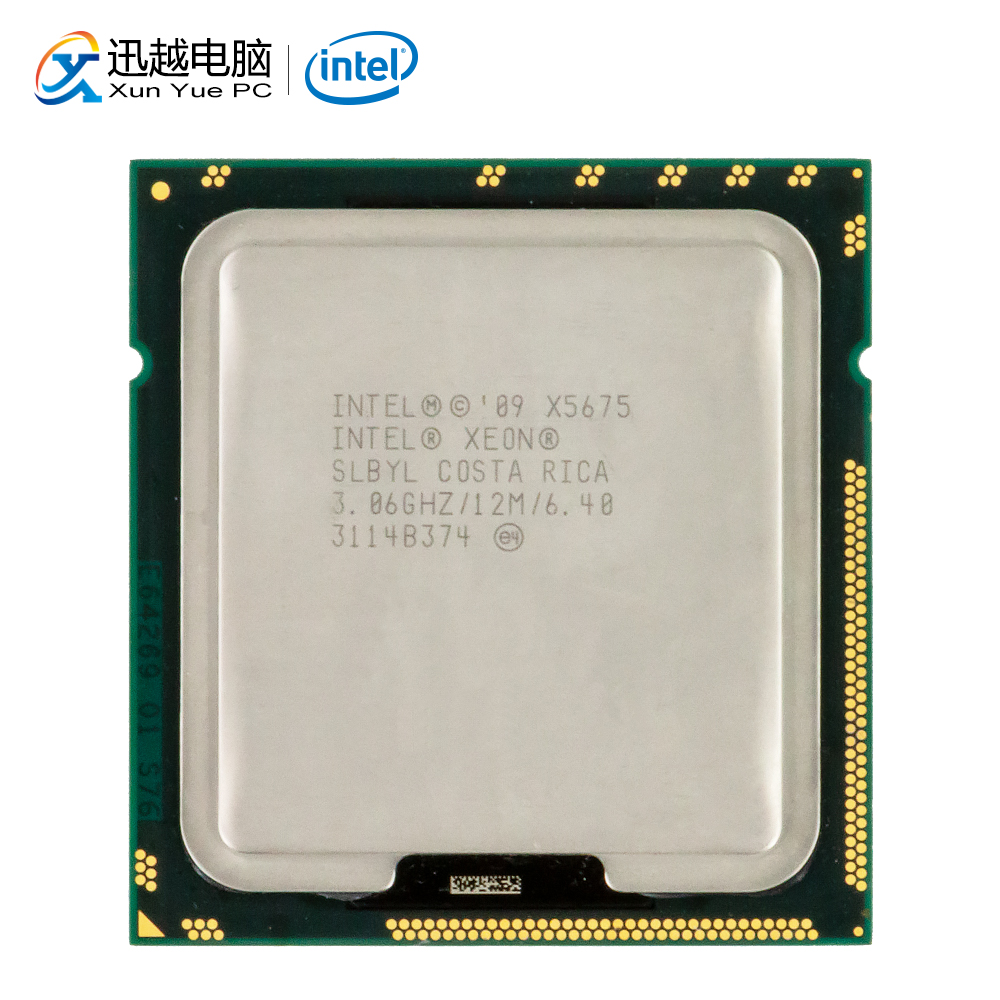 Intel Xeon X5675 Desktop Processor Six-Core 3.06GHz SLBV3 L3 Cache 12MB QPI 6.4GT/s LGA 1366 5675 Server Used CPU image