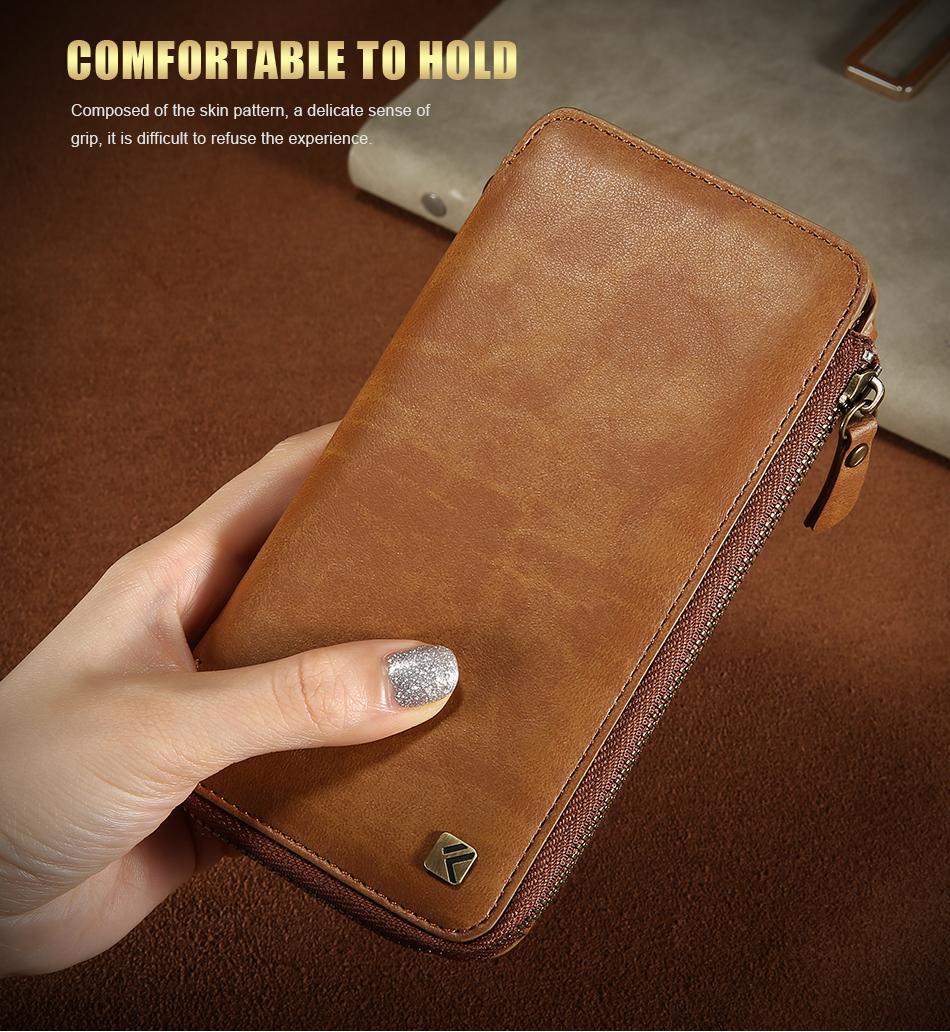 Floveme vintage wallet case dla iphone 6 6 s 7 plus skórzanej oprawie zipper torebka posiadacza karty retro przypadki telefonów dla iphone 6 6 s 7 9