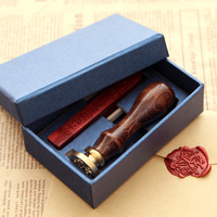 2015 New Hot Greetings Wax Seal Copper Stamp Wood Handle League DIY Gift Ancient Seal Stamp