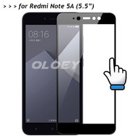 For Xiaomi Redmi Note 5A Prime Y1 Full Cover Screen Protector 9H Tempered Glass Protective Film