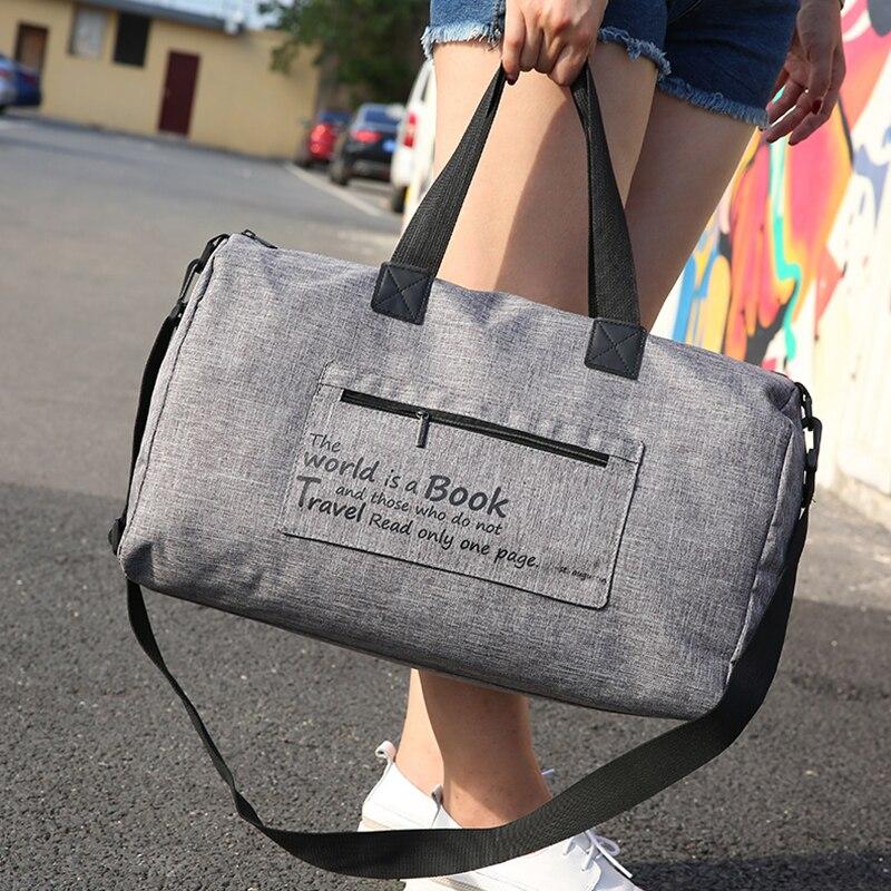 Mulheres dos homens Saco de Viagem Bagagem Embalagem Organizador Carry-on Bolsa Duffle Grande Capacidade Acessórios Mala de Roupas Íntimas
