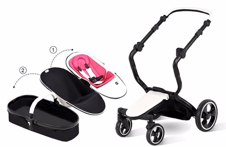 Foofoo wózka dziecięcego Wysokiej krajobrazu może zmienić na spania koszyk skóry 9