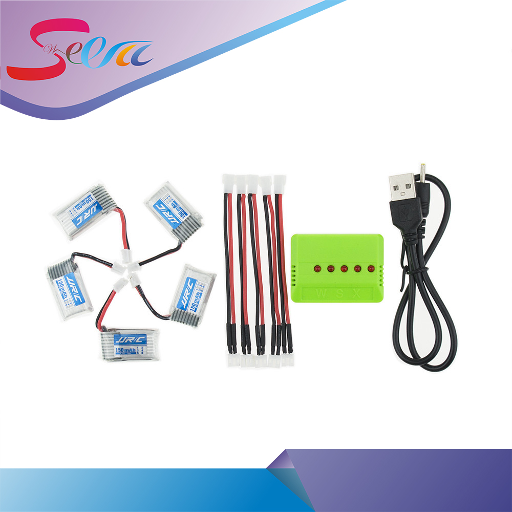5pcs 150mAh 3.7V li-po Battery and x5 USB charger for Eachine E010 E011 E012 E013 Furibee F36 JJRC H36 RC Quadcopter Spare Parts spare parts usb charger cable for jjrc h36 eachine e010 nihui nh010