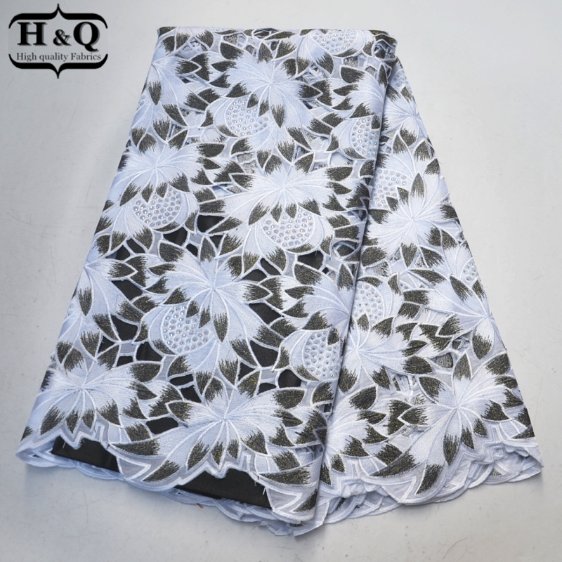 Latest Swiss voile lace fabric Hollow-out Embroider With Stones African lace fabric 5 yards/pcs high quality for Party SewingLatest Swiss voile lace fabric Hollow-out Embroider With Stones African lace fabric 5 yards/pcs high quality for Party Sewing