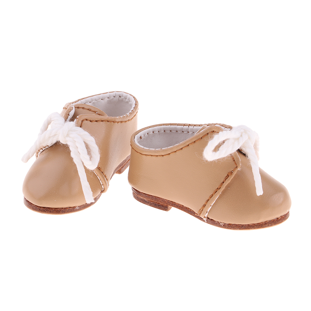 2 Pair PU Leather Flat Shoes for 12/'/' Blythe Momoko Doll Clothes Accessories