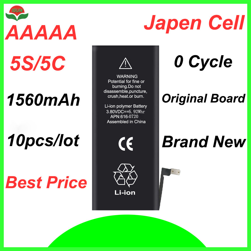 Cycle-Mobile-Battery Battery-Replacement IPhone 5s 1560mah Original-Quality For 5C ISUN