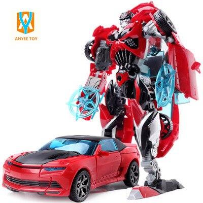 Nuovo Arrivo 2017 Classic Giocattoli Trasformazione Robot Auto Action Figure Giocattoli di Plastica per Bambini Educativo di DIY Toy Regali