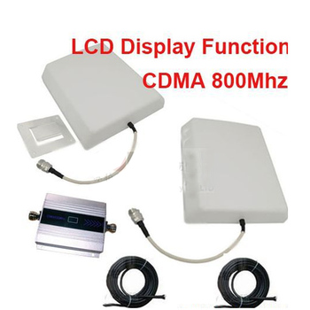 w/ 15bMeter cable& panel antenna CDMA booster gain 55dbi LCD display function CDMA 850Mhz mobile phone signal booster repeater