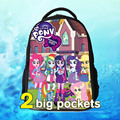 Bolsa nova escola de moda primavera mochila de desenho animado my little mochilas escolares pônei my little pony com zíper fornecer atacado livre
