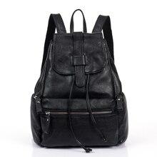 Femmes Sacs Solide Sac À Dos de Mode Véritable Leatherbackpack Femmes Cartable 2016 peau de Vache de Loisirs Voyage Sac Boutique Sacs À Dos