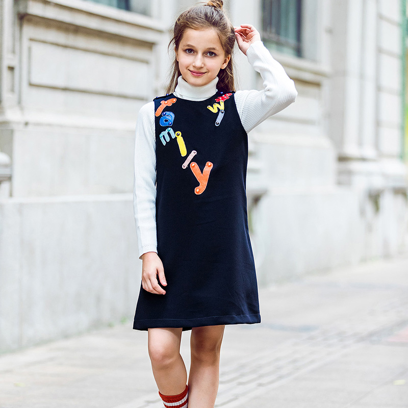 W.L.MONSOON Kids Dresses for Girls Clothes Letter Embroidered 2017 Brand Winter Toddler Girl Dresses Princess Children Clothing ...