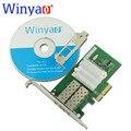 Winyao wyi350f2-sfp x4 pci express dual port 1000 mbps gigabit ethernet lan placa de rede do servidor de fibra para intel nic i350-f2