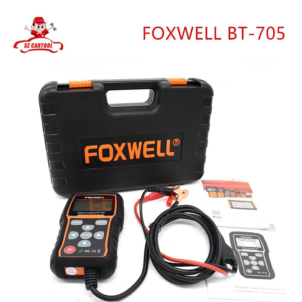 Free shipping  Original Foxwell BT 705 BT705 BT-705 12 Volt Battery Analyzer Tester Directly Detect Bad Car Cell Battery