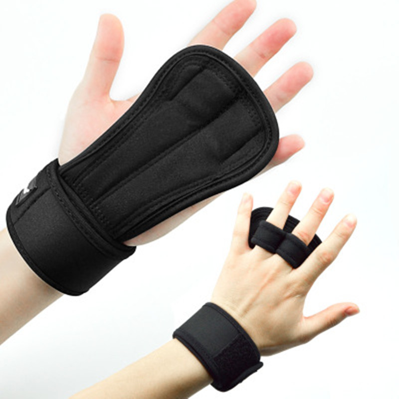 Gym Hand Protector Leather Palm Grips Gloves Fitness Boxing Dumbbell Crossfit Barbell Fitness Gloves Gym Equipment Accessories