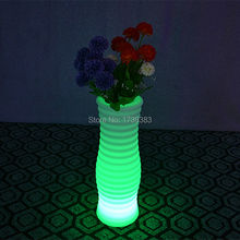 1 piece color change rechargeable remote control LED Luminous flower pot of Vase Lumineux LED Multicolore with ROUND XL
