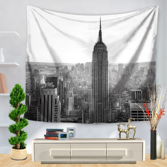 Modern Building Wall Hanging Tapestry Picture On Wall Decor Polyester Fabric  Tapestries Wall Hangings Cloth Vintage