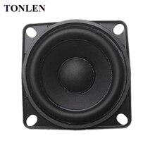 TONLEN 1PCS 2 inch Full Range Speaker 8 ohm 10 W DIY HIFI speakers wireless bluetooth speaker rubber edge audio music speakers