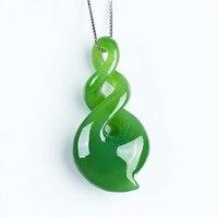 Lixin alta imitación de jade y nefrita colgante de jade Collar Colgante orquídea espinaca verde de apertura de cama