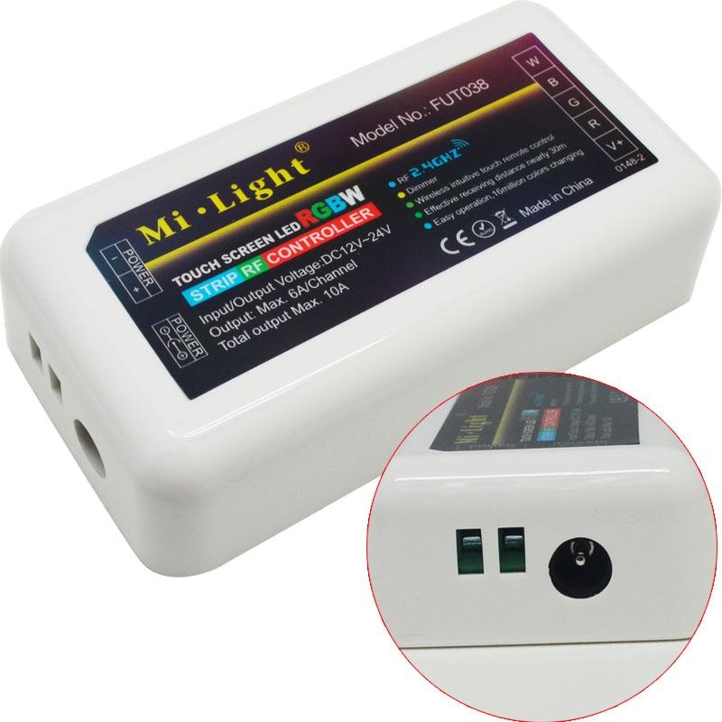 DC12v 2.4G RGBW mi lumière sans fil wifi RF à distance + 4 pièces * 3 voies canal 4 Zones 18A contrôleur + 1 pièces * Wifi LED de contrôle 5 V - 4