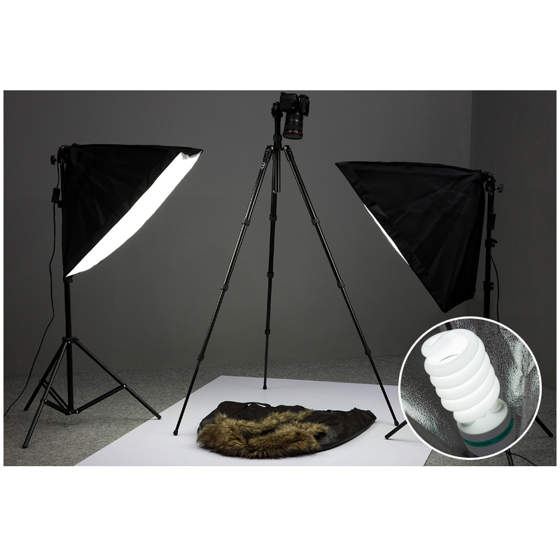 купить Single Lamp Softbox Photo Light Softbox Set Photographic Equipment Photo Studio Light Stand Kit Tripod Kit Lamps Stand Lightbox недорого