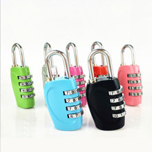 Metal code padlock color suitcase padlock cabinet code lock gym small lock head small mini lock solid plastic case copper padlock travel tiny suitcase and lock with 2 keys have 8 colors home accessories