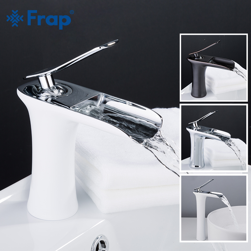 FRAP Basin Faucet high quality bathroom basin mixer taps waterfall sink faucet chrome bronze mixer faucet torneira do anheiro-in Basin Faucets from Home Improvement    1