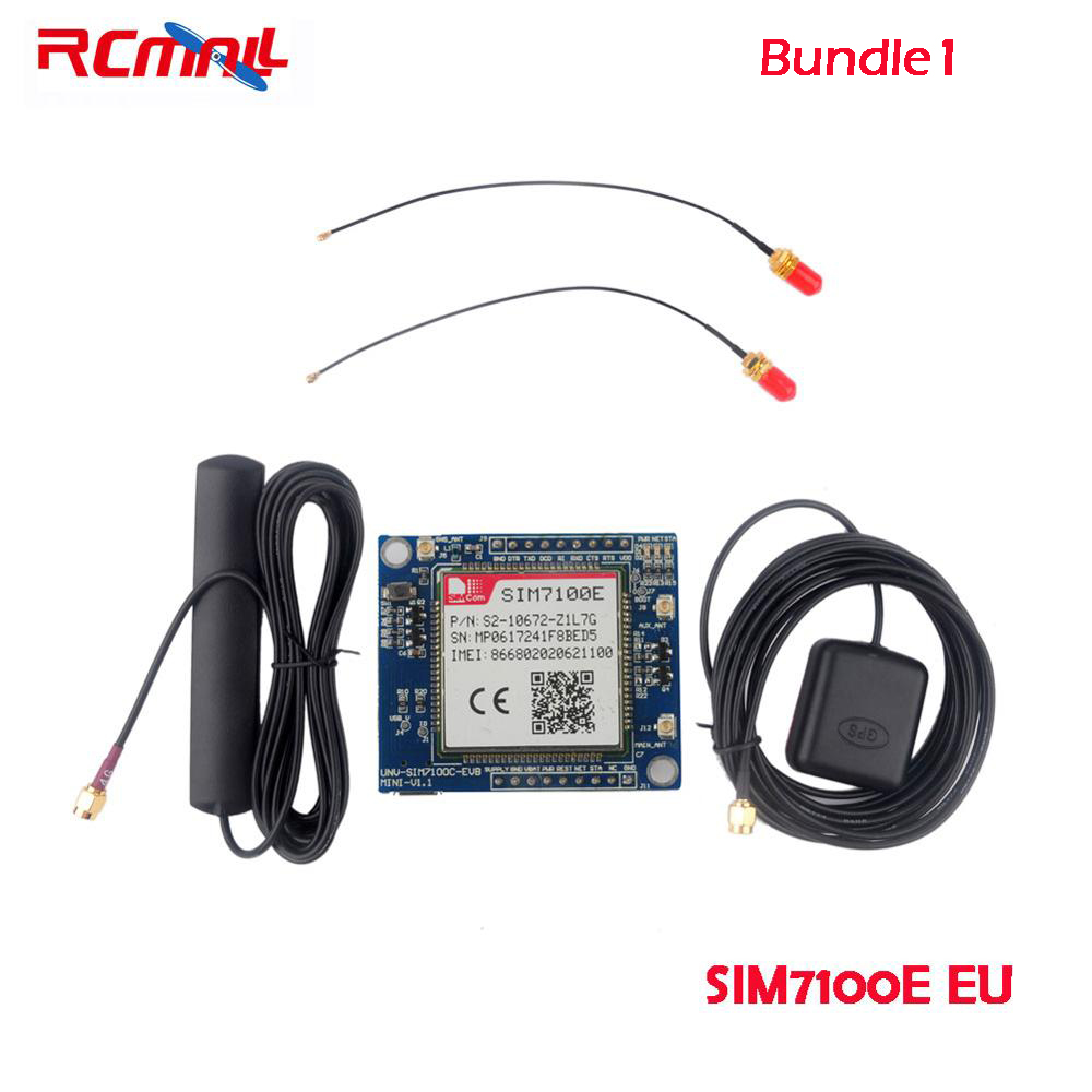 RCmall SIM7100E/SIM7100A 4G Development Board for Arduino Raspberry Pi 5-18V Android Linux Windows FZ2846-EU FZ2846-US ...