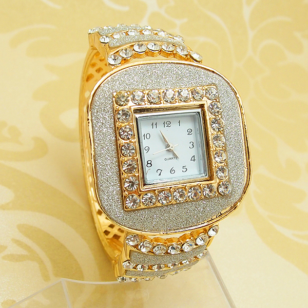 Wholesale fashion bracelet bangle quartz watch women dress rhinestone