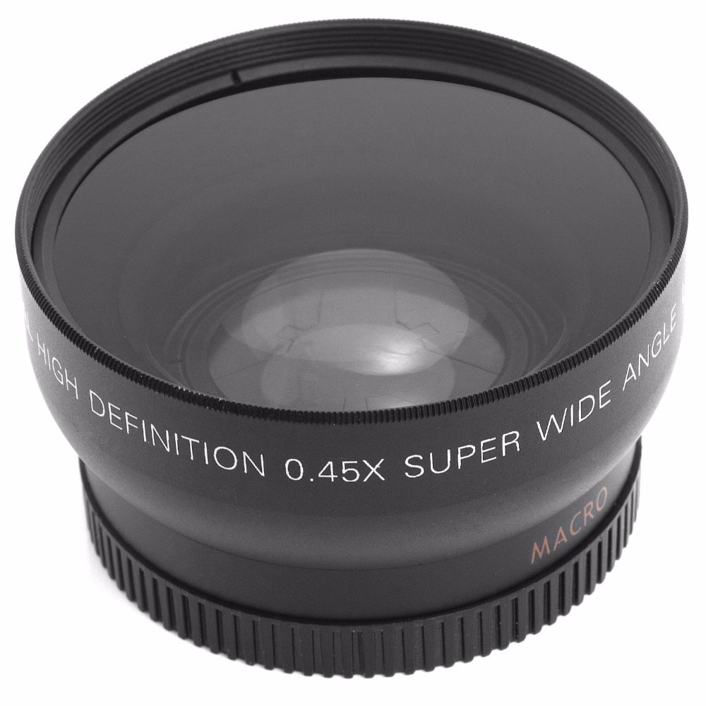 52MM 0.45x Nikon DSLR kameraları üçün Geniş Bucaqlı Lens + - Kamera və foto - Fotoqrafiya 4