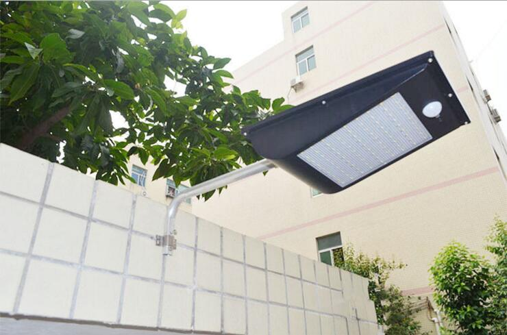 800-1000Lumens Solar Light 81LED Wireless Solar Motion Sensor Lights Street Lighting Power Lamp Outdoor Lamps IP65 Waterproof ds 360 solar sensor led light black