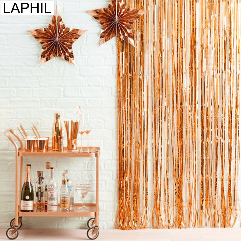 Laser Backdrop Decorative Garland Foil Curtains  Photography Background
