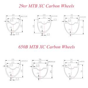 Image 2 - 29er 650B MTB XC tubeless carbon wheelset 29in straight pull wheels 30X30 30X25 28X25 28X28 UD 3K 12K 24H 28H SHN 10s 11s XD XX1