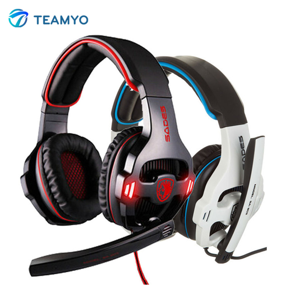 Teamyo Big Gaming Headset 7.1 Surround Sound Stereo USB HiFi Headphones with Mic Volume Control earphones Casque for Gamer PC earfun brand big headphones with mic