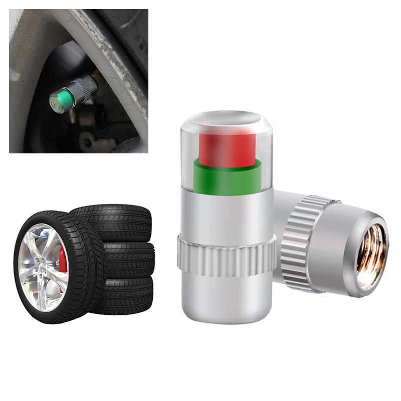4pcs Car Styling Car Tyre Tire Pressure Valve Stem Caps 2