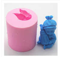 Free Shipping Food Grade Raw Material Sleeping Baby Baby S Bottle Soap Mold Soft New Shape