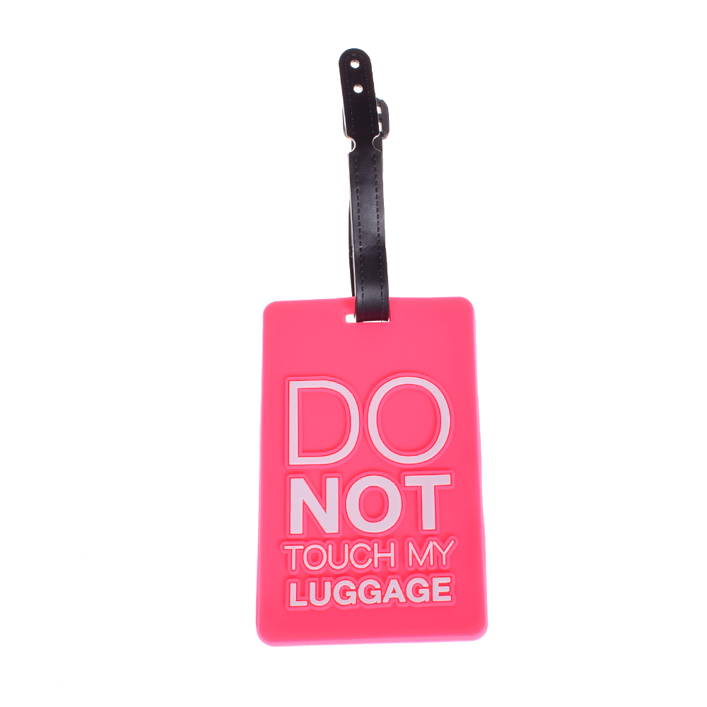 1PCS Cute Ice Cream Fruit Shape Silicone Luggage Baggage Tags Name Address ID Suitcase Travel Labels Gifts Travel Accessories
