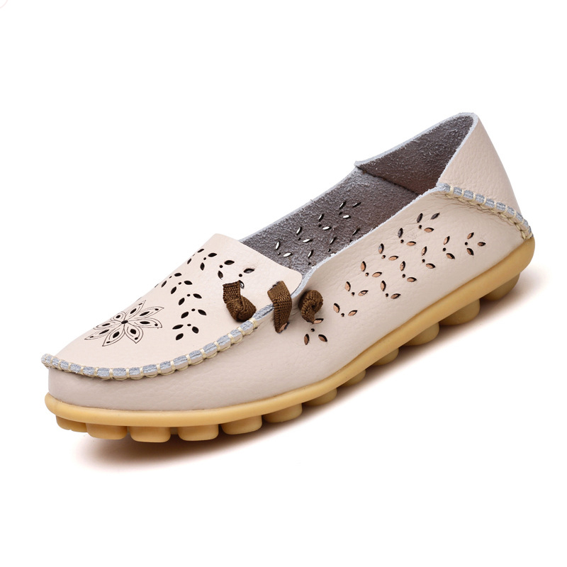 Summer Candy Colors Genuine Leather Women Casual Shoes Fashion Breathable Slip-on Peas Massage Flat Shoes fashion boutique huanqiu fashion women canvas shoes low breathable women sneakers solid color flat shoes casual candy colors l