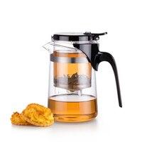 500ml Heat Resistant Press Borosilicate Glass Teapot Chinese Kung Fu Tea Set Puer Tea Green Tea Kettle Convenient Teaware