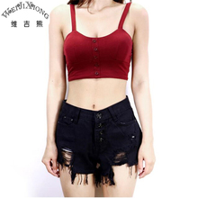 Wei JiXiong 2017 New Summer Female Blusas Feminino Skinny Tank Top  Fashion Camisole High Elastic Plus Size  Crop Short Tops