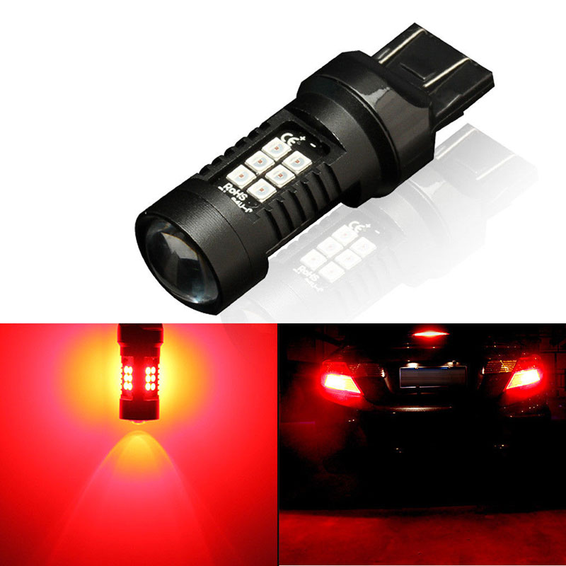 3030 LED Lamps Bulbs 7443 T20 W21//5W 21SMD Red Brake Tail Light 12V To 24V 5W