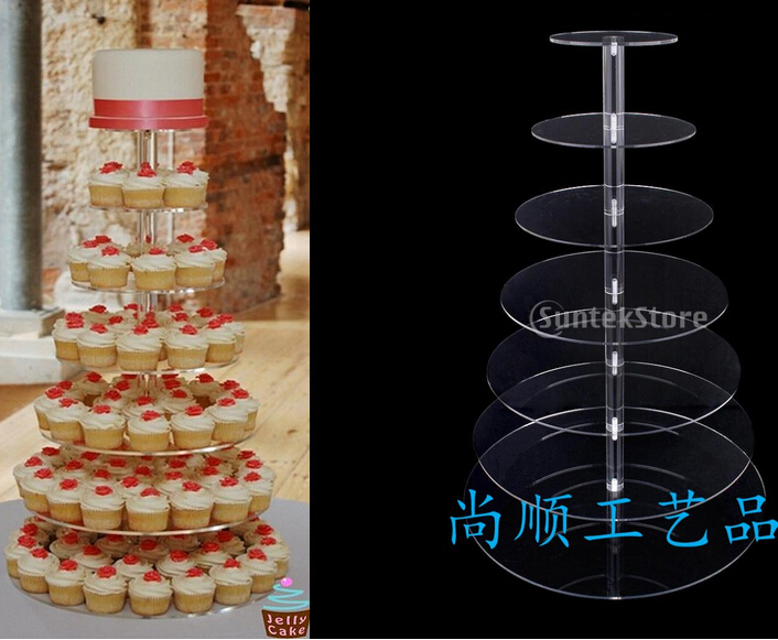 Layer 7 European acrylic wedding cake rack birthday banquet cup cake decoration snack products acrylic cupcake standLayer 7 European acrylic wedding cake rack birthday banquet cup cake decoration snack products acrylic cupcake stand
