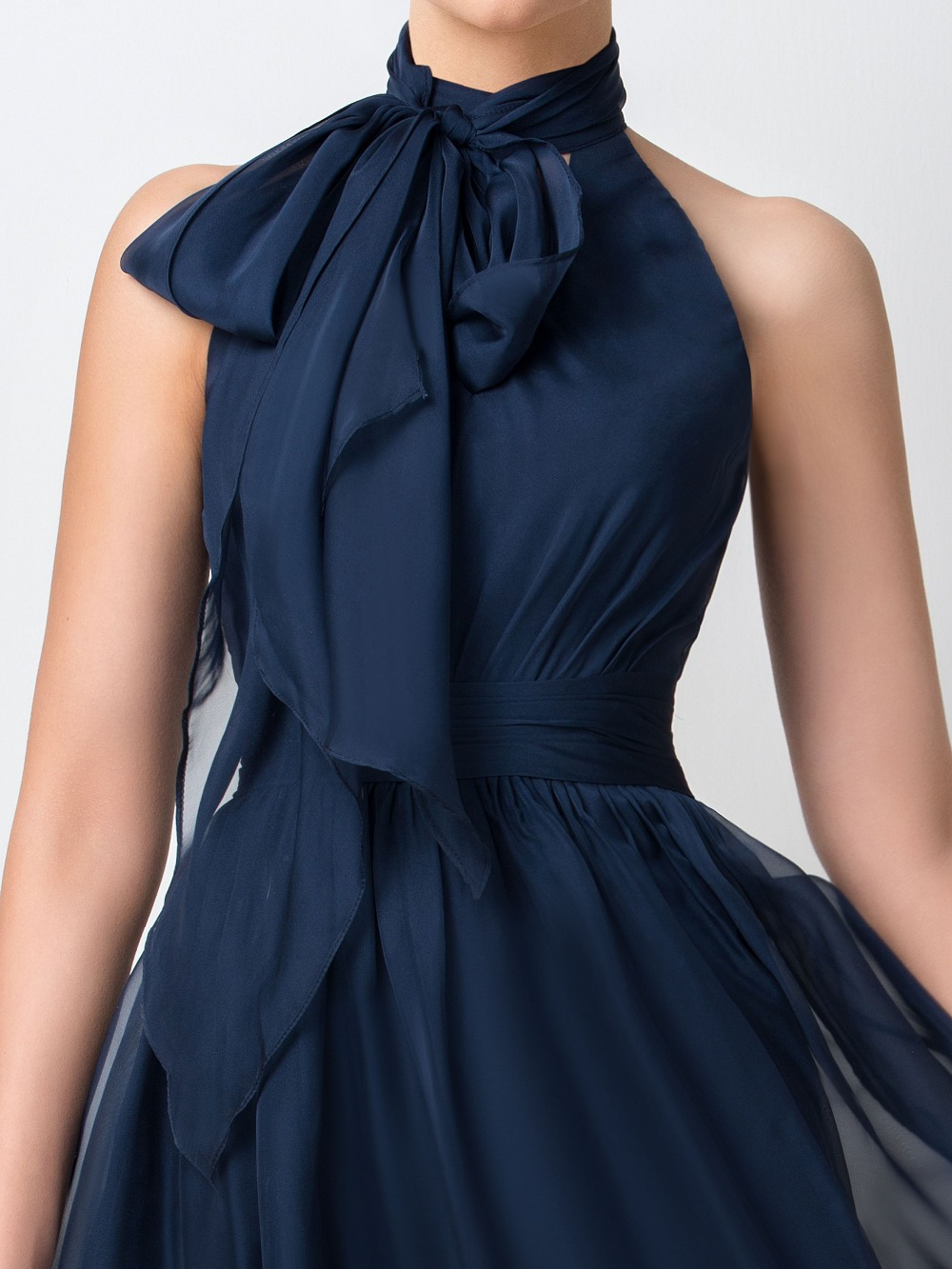 Dressv navy blue chiffon short bridesmaid dress 2017 simple knee dressv navy blue chiffon short bridesmaid dress 2017 simple knee length a line high neck ruffles maid of honor dress party gowns in bridesmaid dresses from ombrellifo Gallery