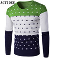 2017 ACTIDEE New Spring Autumn Knitted Sweaters Men Slim Fit Pullovers Plus Size 3XL 4XL 5XL