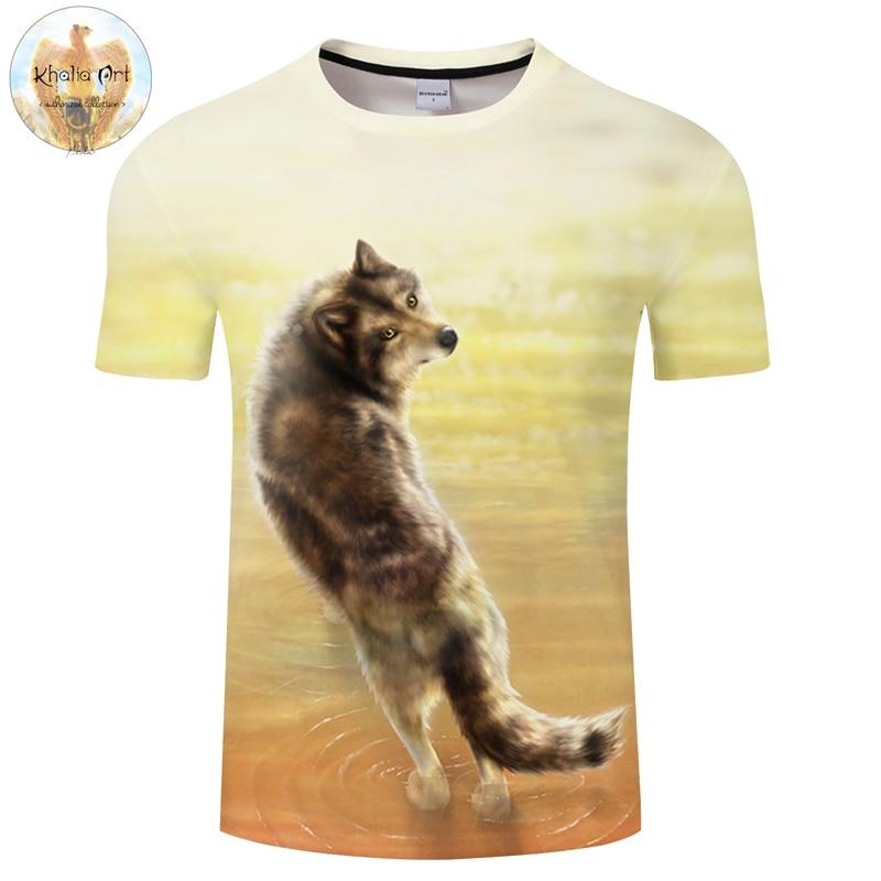 Where it all began By KhaliaArt Wolf 3D Print T shirt Men Summer Casual Short Sleeve Tops&Tees Women Tshirt Boy Haruju Drop Ship