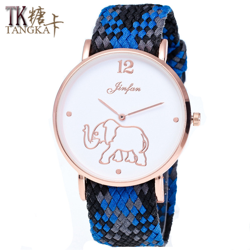 Fashion Design Brand Lovers Nylon Woven Women Men Watches Simple Retro Students Clockwise  Unisex Leisure Quartz Watch Gift