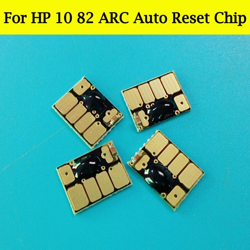 1 Set ARC Cartridge Chips For HP 10 82 Auto Reset Chip For HP Designjet 111 500 800 500ps 800ps 500plus 800plus Printer Plotter
