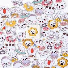 45pcs/box kawaii Greedy puppy DIY stickers decoration diary posted album scrapbooking decorations sealing stationery